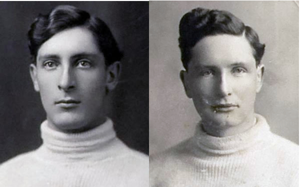 Bill (L) and Frank (R) Yeadon, started the rival Continental Hockey Association in 1911